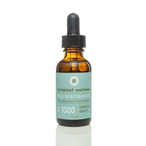Sympleaf Wellness CBD Full Spectrum Oil – 1000mg CBD THC < .3%