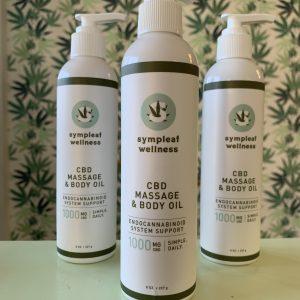 1000mg CBD Massage Oil Sympleaf