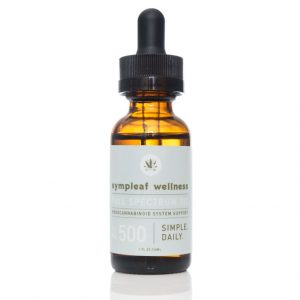 Sympleaf Wellness CBD Full Spectrum Oil – 500mg CBD THC < .3%