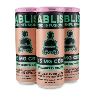 ABLIS Strawberry Mojito 25mg/12oz CBD Beverage
