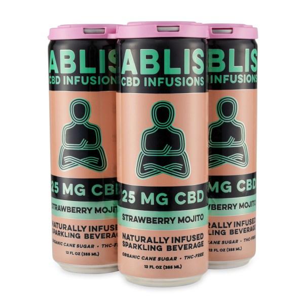 ABLIS Strawberry Mojito 25mg/12oz CBD Beverage