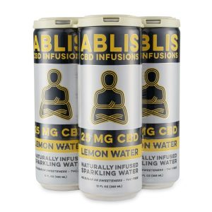 ABLIS Sparkling Lemon Water Cans 25mg/12oz CBD Beverage