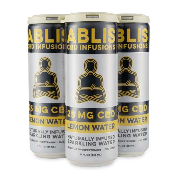 ABLIS Sparkling Lemon Water Cans 25mg/12oz CBD Beverage