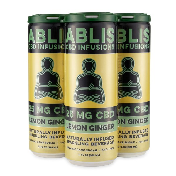 ABLIS LEMON GINGER 25mg/12oz CBD Beverage