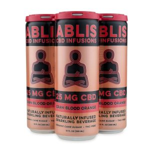 ABLIS CRANBERRY BLOOD ORANGE 25mg/12oz CBD Beverage