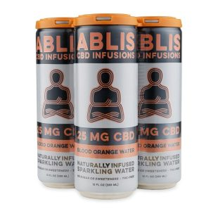 ABLIS Sparkling Blood Orange Water Cans 25mg/12oz CBD Beverage