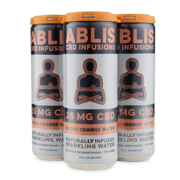 ABLIS Sparkling Blood Orange Water Cans 25mg/12oz CBD Beverage