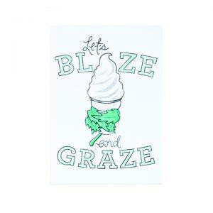 Blaze and Graze Print 5″x7″