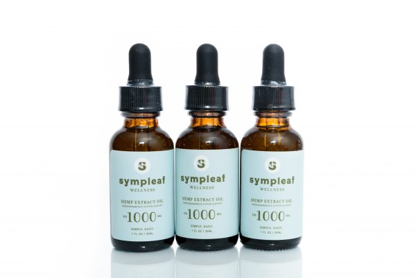 Sympleaf Wellness Hemp Extract Oil – 1000mg CBD