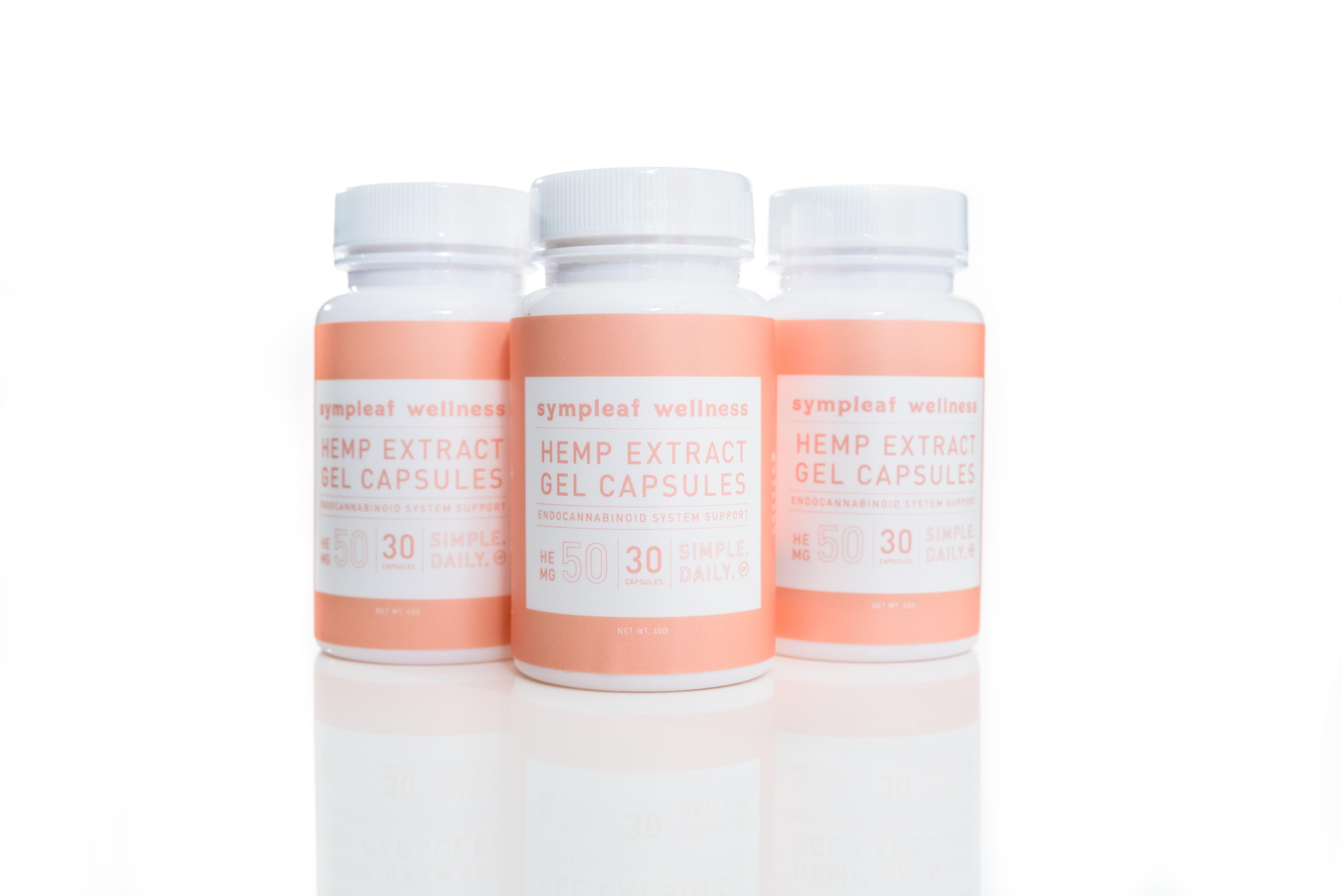 Sympleaf Wellness Hemp Extract Softgels (30ct) 50mg CBD/softgel