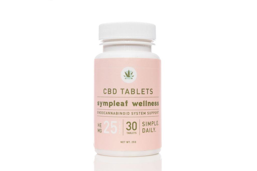 Sympleaf Wellness 25mg CBD Tablets (30 ct)