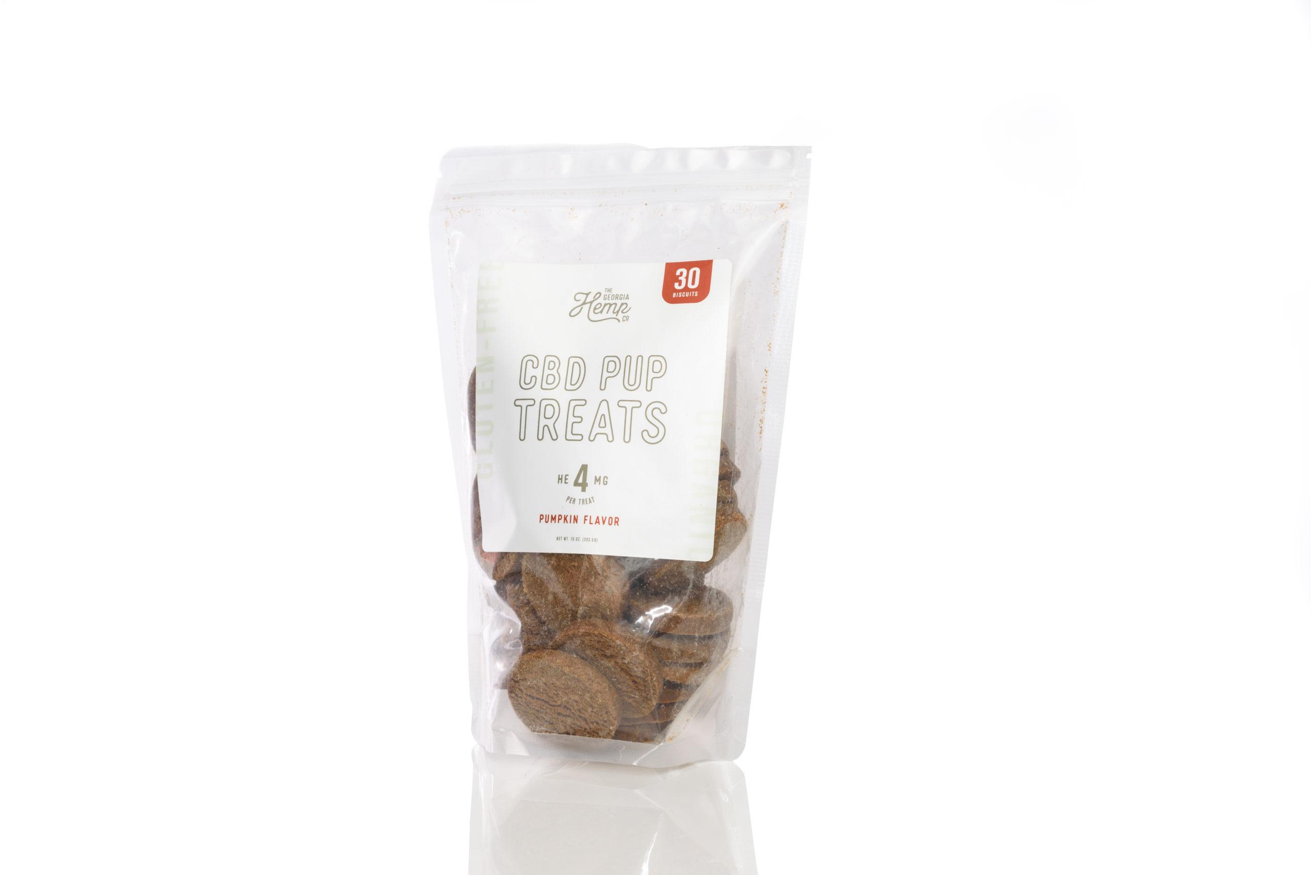 The Georgia Hemp Company Doggy Daily Hemp Extract Pumpkin Treats (30 ct) – (4mg CBD/treat)