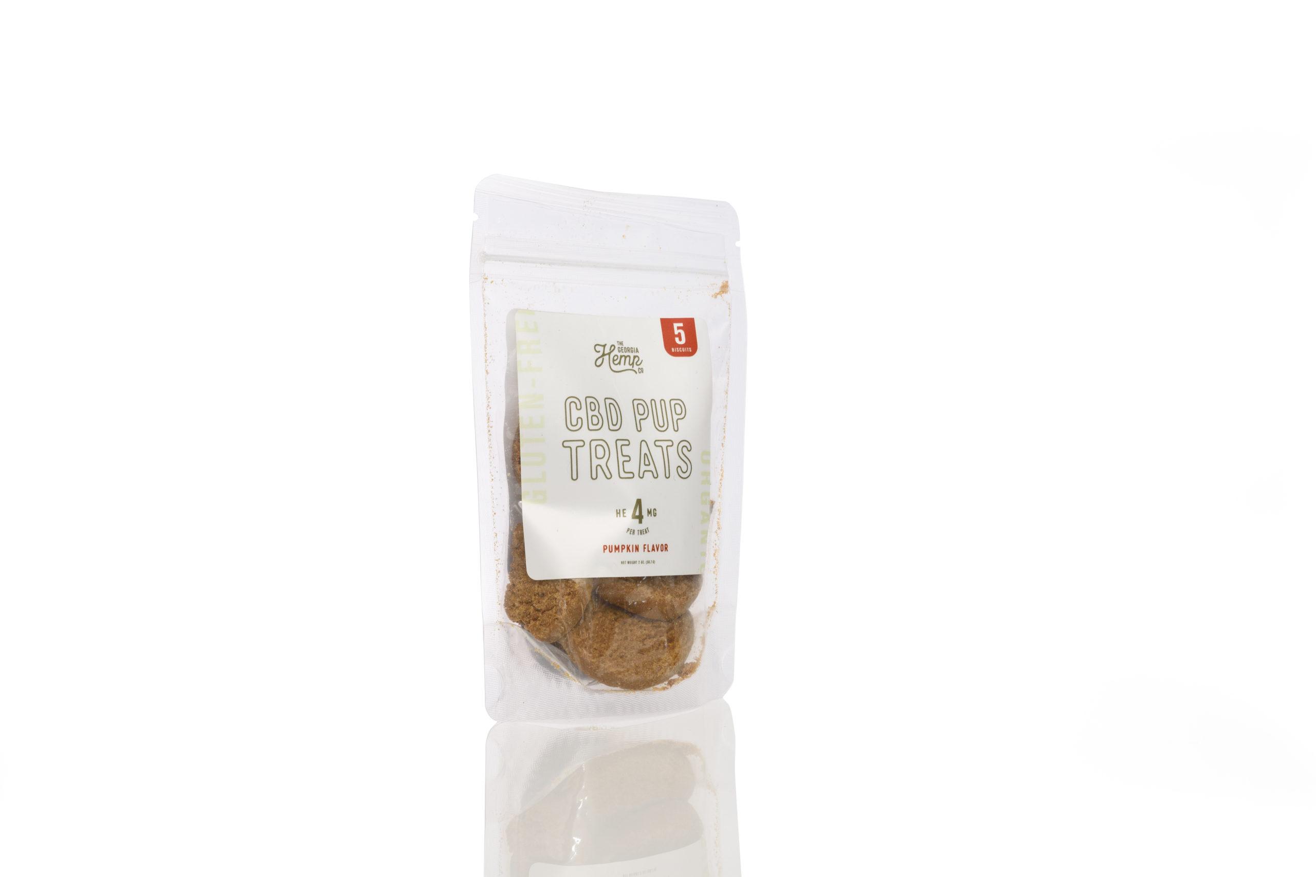 The Georgia Hemp Company Doggy Daily Hemp Extract Pumpkin Treats (5 ct) – 4mg CBD/treat