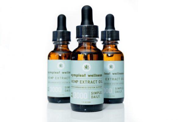 Sympleaf Wellness CBD Full Spectrum Oil – 3000mg CBD THC < .3%