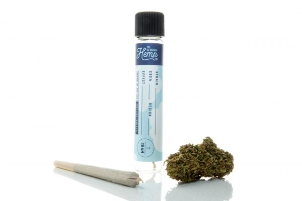 Purple Frost – 15% Indica Hemp Flower Strain 1g Pre-Roll
