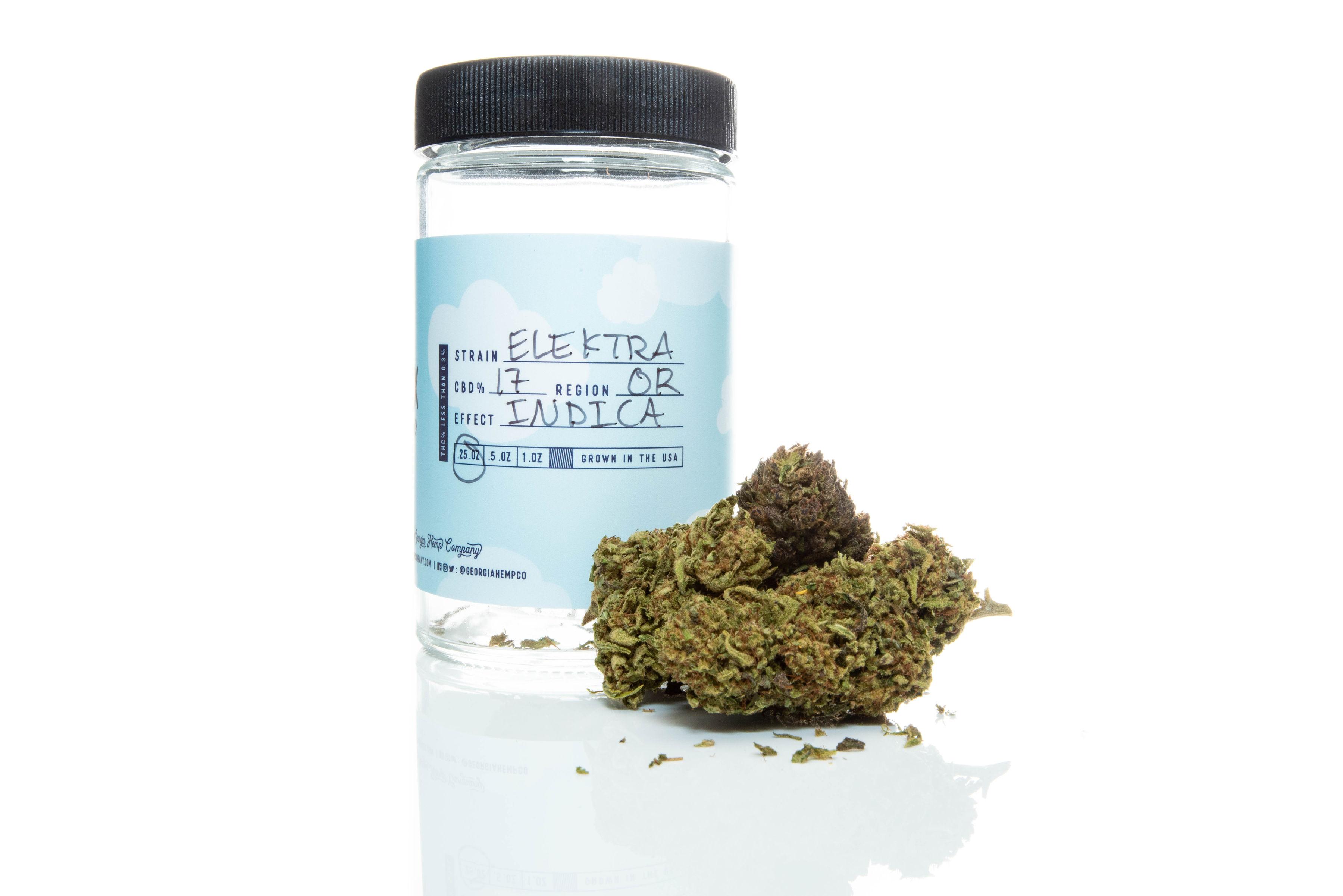 Elektra 16% 7g Quarter/Oz Hemp Flower Strain from The Georgia Hemp Company