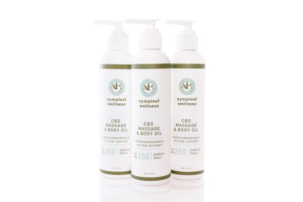 Sympleaf Wellness 250mg CBD Massage & Body Oil