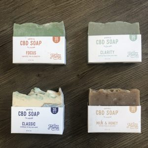 35mg CBD Hemp Soap Kit – 4 soaps