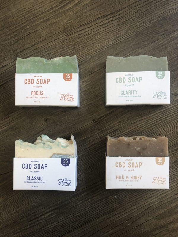 35mg CBD Hemp Soap Kit – 4 soaps