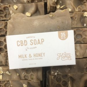 Oatmeal, Milk & Honey 35mg CBD Hemp Soap