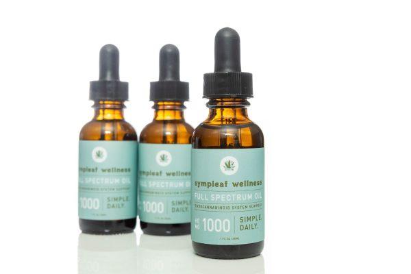 Sympleaf Wellness CBD Full Spectrum Oil – 1000mg CBD THC < .3%