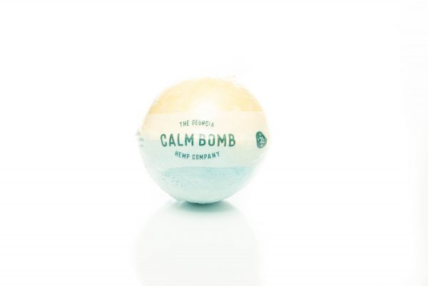 Calm – Hemp Extract Bath Bomb (LEMONGRASS KIWI) – 35mg CBD