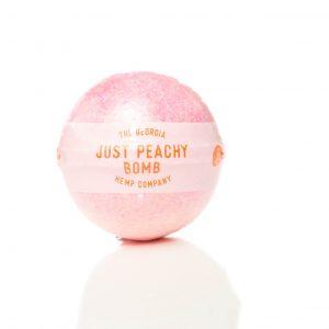 Just Peachy – Hemp Extract Bath Bomb (Fresh Peach) – 35mg CBD