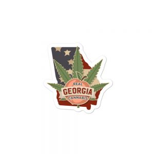 Real Georgia Cannabis State Flag sticker