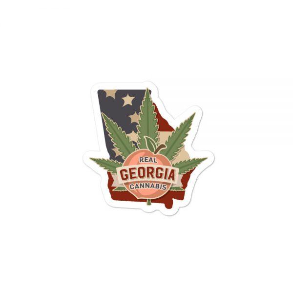 Real Georgia Cannabis State Flag sticker