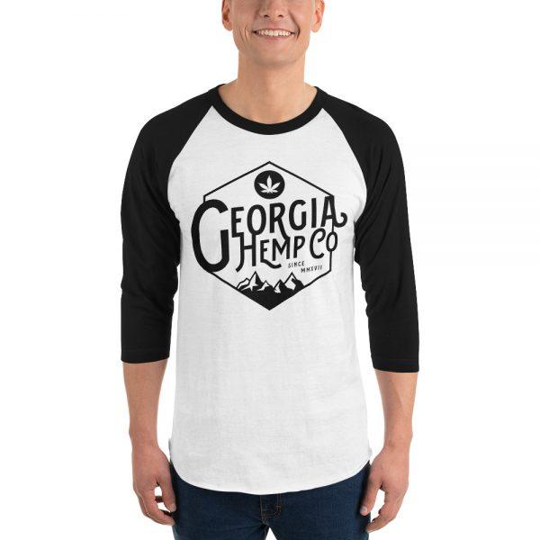 The Georgia Hemp Company Mtn. Logo 3/4 sleeve raglan shirt