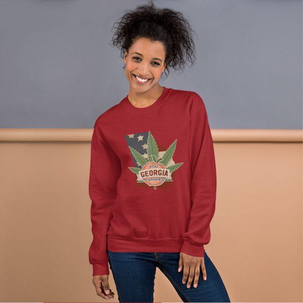 Real Georgia Cannabis Unisex Sweatshirt