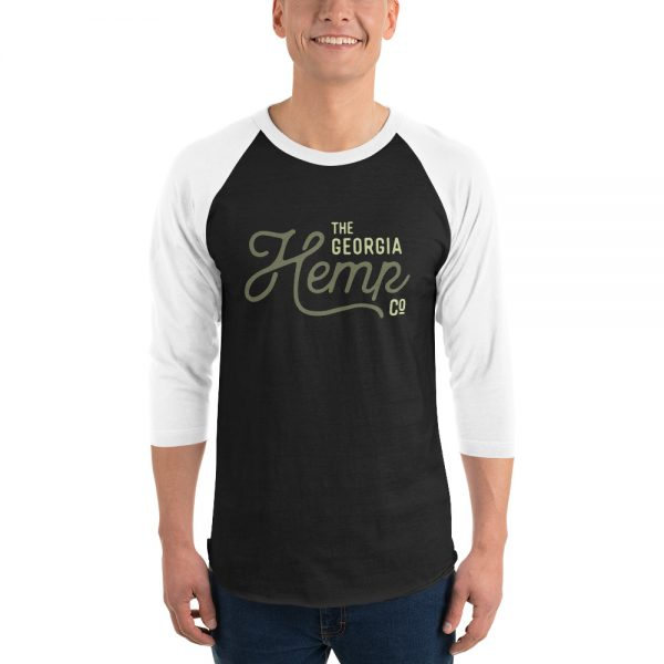 The Georgia Hemp Company Logo 3/4 sleeve raglan shirt
