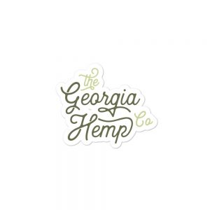 The Georgia Hemp Company Cursive Logo sticker