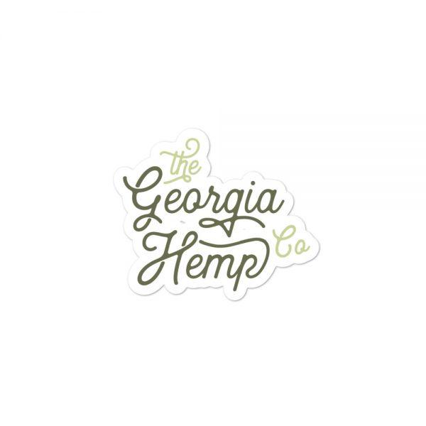 The Georgia Hemp Company Cursive Logo sticker