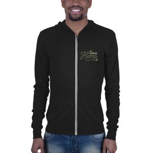 The Georgia Hemp Company Logo Unisex zip hoodie
