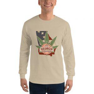 Real Georgia Cannabis Long Sleeve Unisex T-Shirt