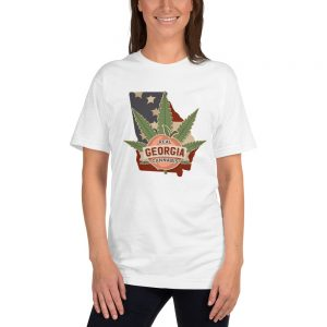 Real Georgia Cannabis State Flag T