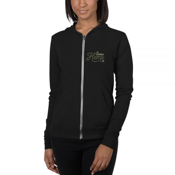 The Georgia Hemp Company Logo Unisex zip hoodie