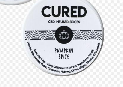 Cured Hemp Extract Spices (Pumpkin) – 2 oz (100mg CBD)