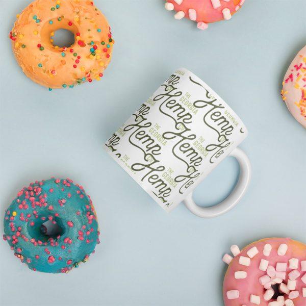 GHC Pattern White glossy mug